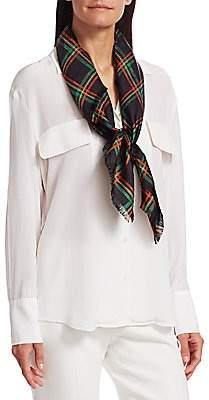 Gucci Women's Silk Tartan Scarf