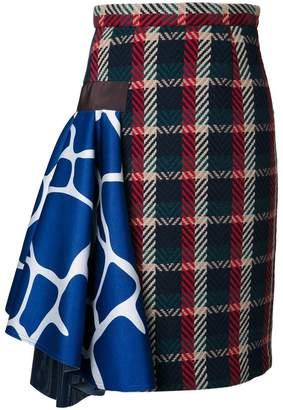 Kolor チェック柄 スカート