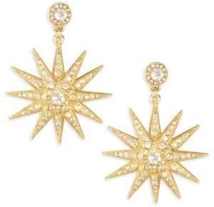 Oscar de la Renta Moon Crystal Post Earrings