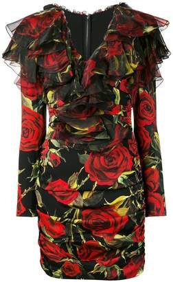 Dolce & Gabbana ruffled floral dress