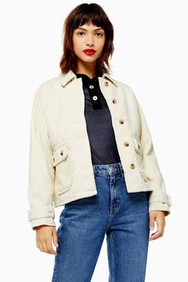 Topshop Cream Corduroy Jacket