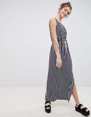Blend She Honey Stripe Midi Dress