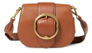 Ralph Lauren Pebbled Leather Lennox Bag Saddle One Size