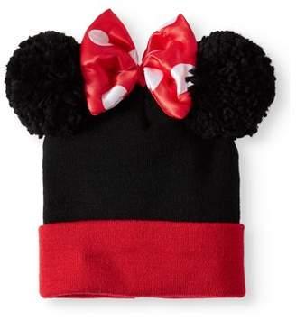 Disney's Minnie Mouse Women's Double Pom Cuff Beanie