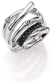 John Hardy Women's Bamboo Black Sapphire& Sterling Silver Multi-Row Ring