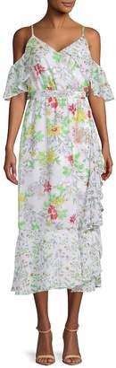 Nanette Lepore NANETTE Women's Printed Ruffled Day Dress