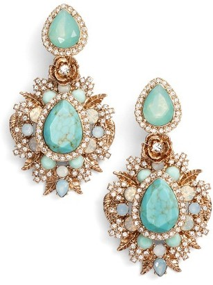 Women's Marchesa Bright Paradise Drama Drop Earrings $150 thestylecure.com