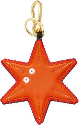 Loewe Leather Starfish Charm Key Ring
