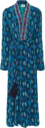Figue Olatz Embroidered Cady Kimono