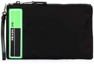 Prada nylon neon pouch