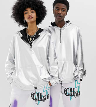 Collusion COLLUSION Unisex silver hoodie