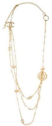 Chanel Multistrand Birdcage Station Necklace