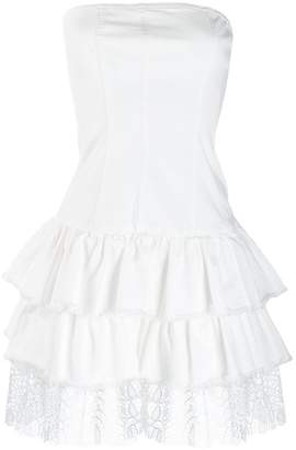 Liu Jo ruffled strapless dress