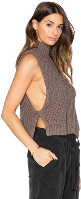 Autumn Cashmere Turtleneck Sleeveless Sweater $154 thestylecure.com