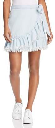Blank NYC BLANKNYC Ruffled Chambray Wrap Skirt