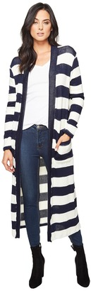 Splendid - Cliffside Rugby Stripe Duster Women's Sweater $148 thestylecure.com