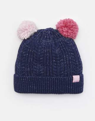 28ff1876223 Joules French Navy Ailsa Double pom Hat Size 8yr-12yr