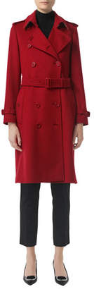 Burberry Kensington Cashmere Belted Trench Coat