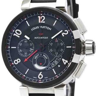 Louis Vuitton Tambour Q1052 Stainless Steel Automatic 45mm Mens Sports Watch