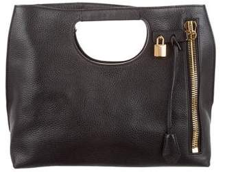 Tom Ford Leather Alix Fold-Over Bag