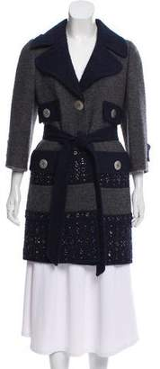 Marc Jacobs Embellished Wool & Llama-Blend Coat