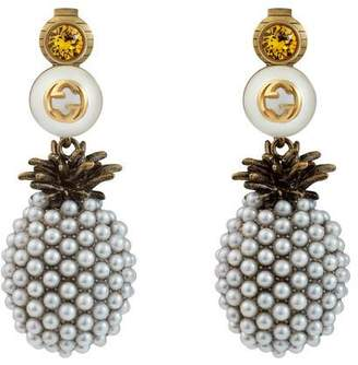 Gucci Pineapple earrings with crystals