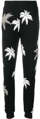 Philipp Plein palm tree print track pants