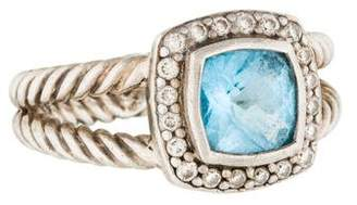 David Yurman Blue Topaz & Diamond Petite Albion Ring $525 thestylecure.com