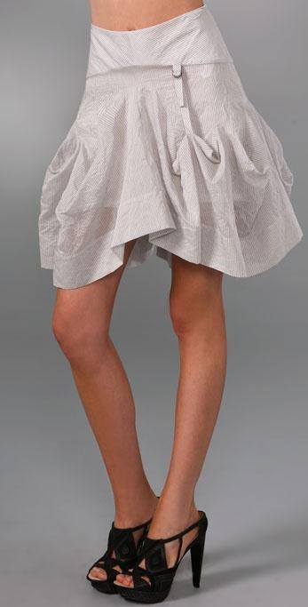 L.a.m.b. Pinstripe Skirt