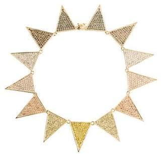 Eddie Borgo Crystal Large Flat Triangle Necklace
