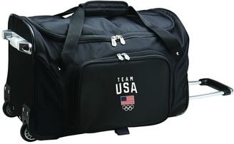 Denco USA Olympics Team 21-Inch Wheeled Duffel Bag
