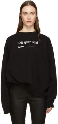 R 13 Black Oversized Sell Your Soul Sweatshirt