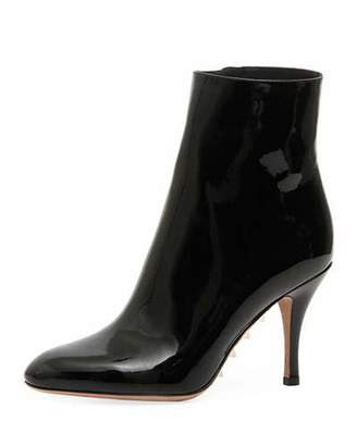 Valentino Killer Studs Patent Stretch Booties