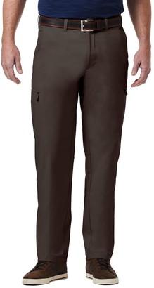 Haggar Men's PRO Elements Classic-Fit Flat-Front Utility Pants