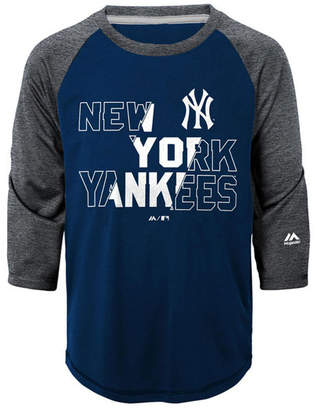 Majestic New York Yankees Box Seats Raglan Ultra T-Shirt, Big Boys (8-20)