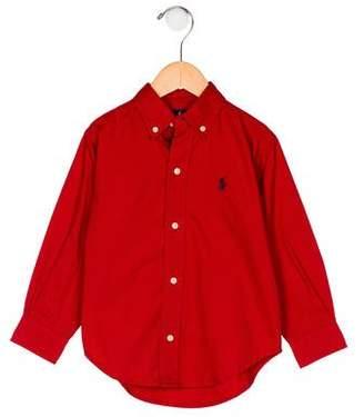 Ralph Lauren Boys' Collar Button-Up Shirt w/ Tags