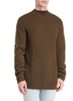 Cheap Monday Dark Green Challenge Knit Sweater