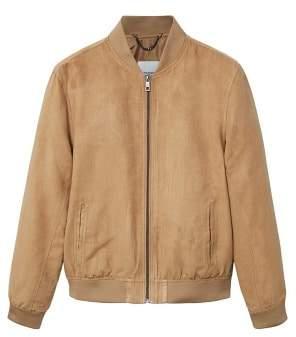 Mango man MANGO MAN Faux suede bomber jacket