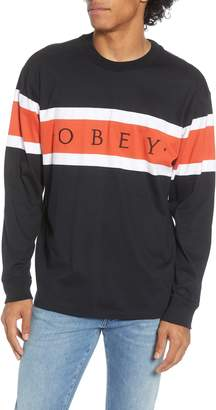 Obey Embrace Stripe Long Sleeve T-Shirt