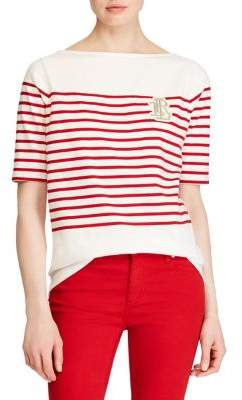 Lauren Ralph Lauren Petite Elbow-Sleeve Top