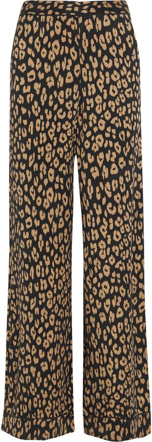 EquipmentEquipment + Kate Moss Avery leopard-print washed-silk pajama pants