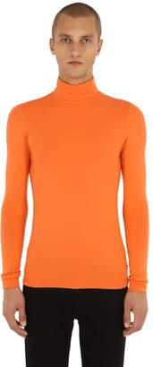 Raf Simons Logo Detail Viscose Jersey T-Shirt