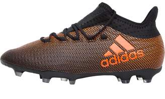 adidas Junior X 17.1 FG Football Boots Core Black/Solar Red/Solar Orange