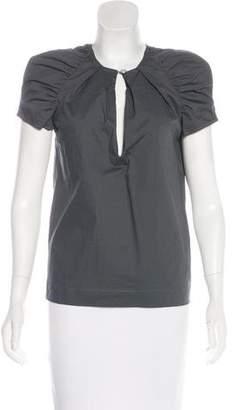 Just Cavalli Short Sleeve V-Neck Top