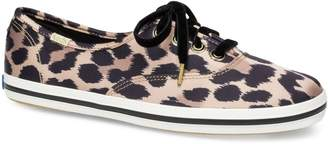 Keds Women's for Kate Spade New York Champion Leopard-Print Spot Satin Sneakers