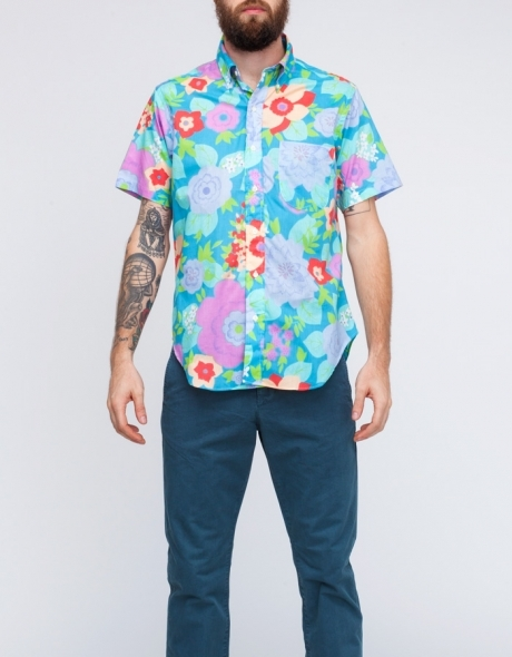 Mark McNairy SS Floral BD Shirt