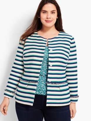 Talbots Stripe Fringe Jacket