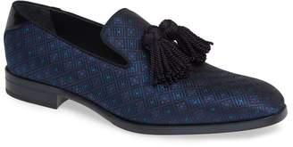 Jimmy Choo 'Foxley' Ombre Glitter Tassel Loafer