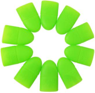 Vilamon 10 PCS Acrylic Nail Art Soak Off Silicon Clips Caps UV Gel Nail Polish Remover Wrap Tool