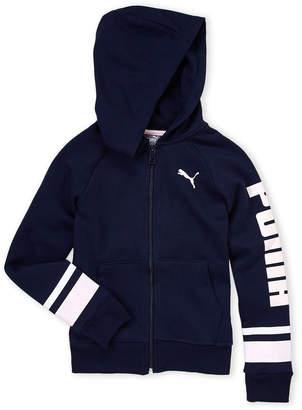 Puma Girls 7-16) Navy Zip-Up Fleece Hoodie